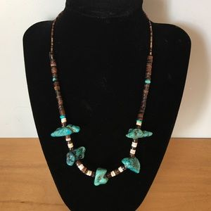 Jewelry - Old Pawn Native American Turquoise Fetish Necklace